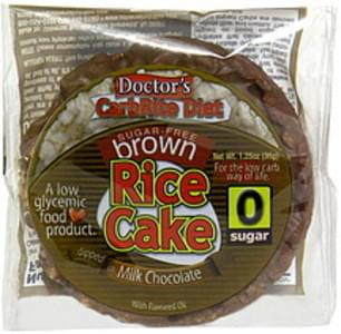 Doctors Sugar Free Brown Rice Cake Dipped in Milk Chocolate