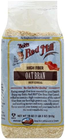 Bobs Red Mill Oat Bran Hot Cereal - 18 oz