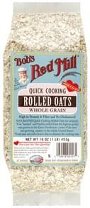 Bobs Red Mill Rolled Oats Whole Grain, Quick Cooking