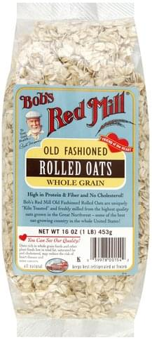 Bobs Red Mill Whole Grain, Old Fashioned Rolled Oats - 16 oz