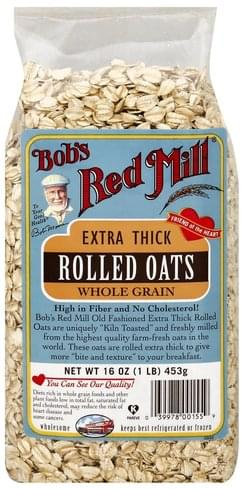 Bobs Red Mill Extra Thick, Whole Grain Rolled Oats - 16 oz