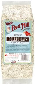 Bobs Red Mill Rolled Oats Whole Grain, Instant