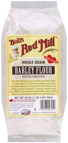 Bobs Red Mill Whole Grain, Stone Ground Barley Flour - 20 oz