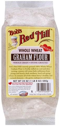 Bobs Red Mill Whole Grain, Stone Ground, Whole Wheat Graham Flour - 24 oz