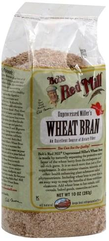 Bobs Red Mill Unprocessed Miller's Wheat Bran - 10 oz, Nutrition