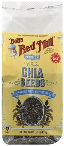 Bobs Red Mill Premium, Whole Chia Seeds - 16 oz