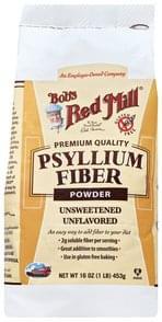 Bobs Red Mill Fiber Powder Psyllium, Unsweetened, Unflavored