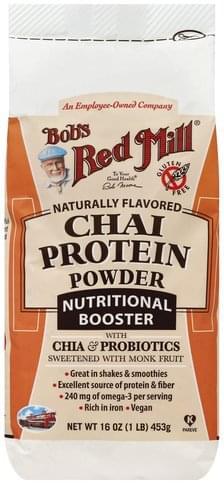 Bobs Red Mill Chai Protein Powder - 16 oz