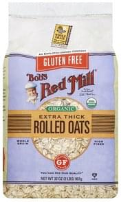 Bobs Red Mill Rolled Oats Organic, Extra Thick