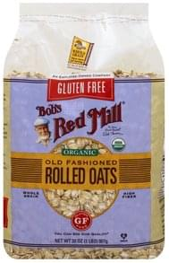 Bobs Red Mill Rolled Oats Gluten Free, Organic, Old Fashioned