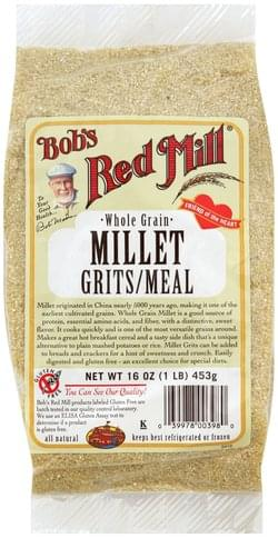 Bobs Red Mill Whole Grain Millet Grits/Meal - 16 oz