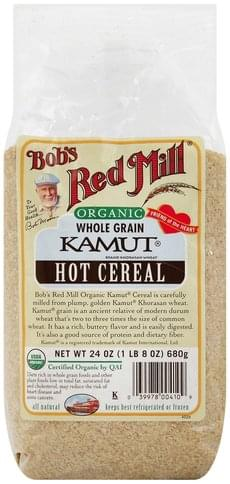 Bobs Red Mill Hot, Organic, Kamut Cereal - 24 oz