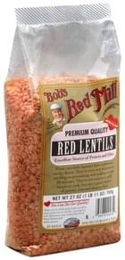 Bobs Red Mill Lentils Red
