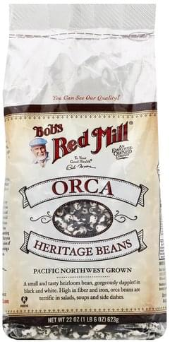 Bobs Red Mill Orca Heritage Beans - 22 oz