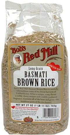 Bobs Red Mill Basmati Brown Rice Long Grain