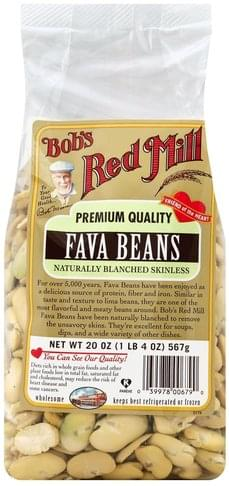 Bobs Red Mill Fava Bean, Naturally Blanched Skinless Fava Beans - 20 oz