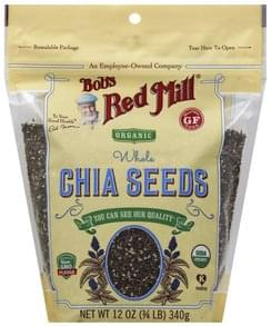 Bobs Red Mill Chia Seeds Organic, Whole