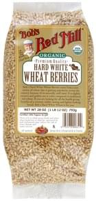 Bobs Red Mill Wheat Berries Hard White, Organic