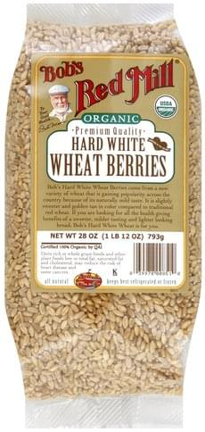 Bobs Red Mill Hard White, Organic Wheat Berries - 28 oz