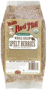 Bobs Red Mill Spelt Berries Whole Grain, Organic
