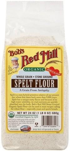 Bobs Red Mill Organic, Stone Ground Spelt Flour - 24 oz