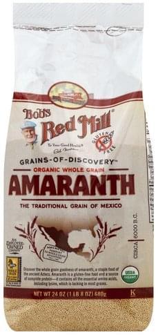 Bobs Red Mill Organic Whole Grain Amaranth - 24 oz