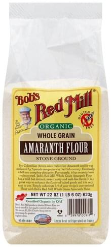 Bobs Red Mill Whole Grain, Stone Ground Amaranth Flour - 22 oz