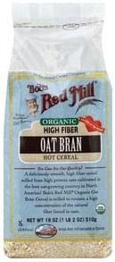 Bobs Red Mill Oat Bran Organic