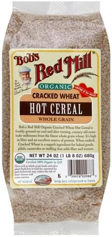 Bobs Red Mill Whole Grain, Cracked Wheat, Organic Hot Cereal - 24 oz