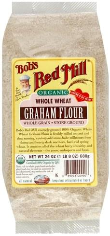 Bobs Red Mill Organic, Whole Wheat Graham Flour - 24 oz