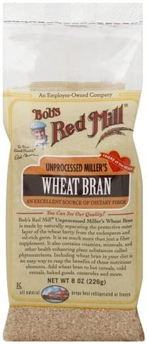 Bobs Red Mill Unprocessed Miller's Wheat Bran - 8 oz