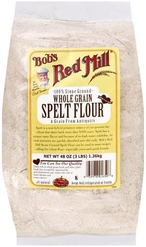 Bobs Red Mill Whole Grain Spelt Flour - 48 oz