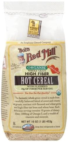 Bobs Red Mill Hot, Whole Grain High Fiber, Organic Cereal - 16 oz