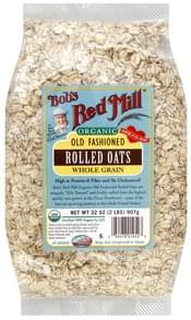 Bobs Red Mill Rolled Oats Whole Grain, Old Fashioned, Organic