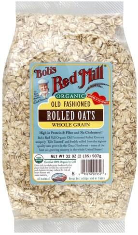 Bobs Red Mill Whole Grain, Old Fashioned, Organic Rolled Oats - 32 oz