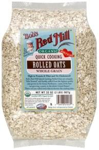 Bobs Red Mill Rolled Oats Whole Grain, Quick Cooking, Organic