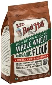Bobs Red Mill Flour Organic, 100% Stone Ground Whole Wheat