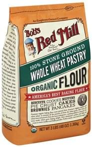 Bobs Red Mill Flour Organic, Whole Wheat, Pastry