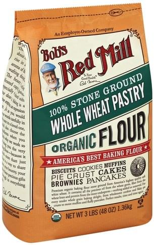 Bobs Red Mill Organic, Whole Wheat, Pastry Flour - 48 oz