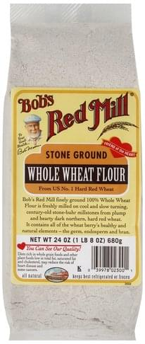 Bobs Red Mill Stone Ground Whole Wheat Flour - 24 oz