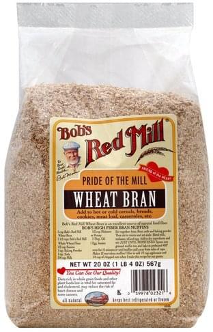 Bobs Red Mill Wheat Bran - 20 oz