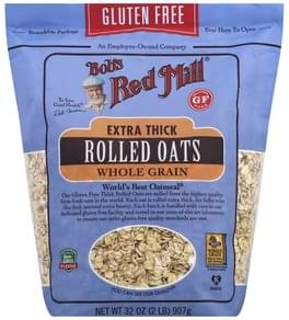 Bobs Red Mill Rolled Oats Gluten Free, Whole Grain, Extra Thick