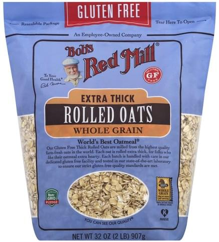 Bobs Red Mill Gluten Free, Whole Grain, Extra Thick Rolled Oats - 32 oz