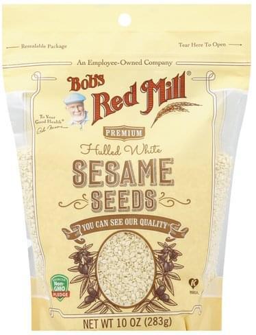 Bobs Red Mill Hulled White, Premium Sesame Seeds - 10 oz