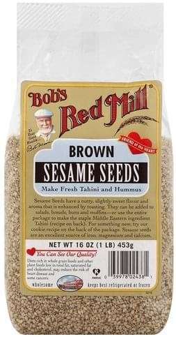 Bobs Red Mill Brown Sesame Seeds - 16 oz