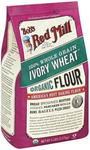 Bobs Red Mill Organic, Ivory Wheat Flour - 5 lb