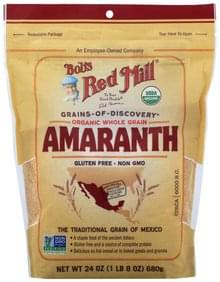 Bobs Red Mill Amaranth Organic, Whole Grain