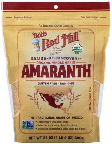 Bobs Red Mill Organic, Whole Grain Amaranth - 24 oz