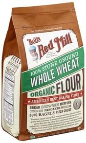 Bobs Red Mill Flour Organic, Whole Wheat, 100% Stone Ground