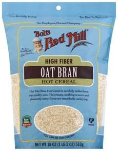 Bobs Red Mill Hot Cereal High Fiber, Oats Bran